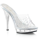 Rhinestones 13 cm FABULICIOUS LIP-101SD womens mules shoes