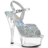 Rhinestones 15 cm KISS-209RS high heeled sandals