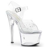 Rhinestones 18 cm SKY-308SD Platform High Heels Shoes