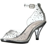 Rhinestones 8 cm BELLE-330RS high heeled sandals