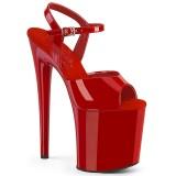 Rode hakken 20 cm NAUGHTY-809 pleaser sandalen hoge hakken plateau