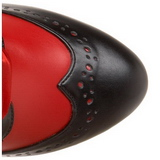 Rood 11,5 cm TEMPT-126 Dames Rijglaarzen Hoge Hakken