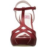 Rood 11,5 cm retro vintage BETTIE-23 Hoge Avond Sandalen met Hak