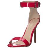 Rood 13 cm AMUSE-10 high heels schoenen voor travestie