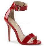 Rood 13 cm Pleaser AMUSE-10 sandalen met naaldhak