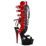 Rood 15 cm DELIGHT-600-38 lange kniehoge gladiator sandalen dames