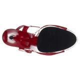 Rood 15 cm DELIGHT-609 pleaser hoge hakken met plateau