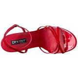 Rood 15 cm DOMINA-108 fetish schoenen met naaldhak