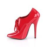 Rood 15 cm DOMINA-460 oxford high heels schoenen