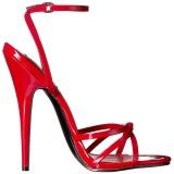 Rood 15 cm Devious DOMINA-108 sandalen met naaldhak