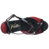 Rood 15 cm Pleaser DELIGHT-652 Sandalen met hoge hakken
