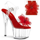 Rood 18 cm ADORE-708BFL pleaser sandalen met plateau