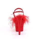 Rood 18 cm ADORE-709F pole dance hakken met veren