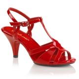 Rood 8 cm Fabulicious BELLE-322 sandalen met lage hak