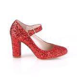 Rood 9 cm SABRINA-07 pumps schoenen met blokhak