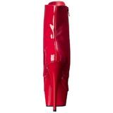 Rood Gelakt 15,5 cm DELIGHT-1020 Plateau Enkellaarzen
