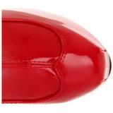 Rood Gelakt 15 cm TEEZE-3000 Plateau Overknee Laarzen
