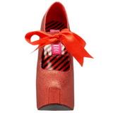 Rood Glitter 14,5 cm Burlesque TEEZE-04G damesschoenen met hoge hak