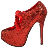 Rood Glitter 14,5 cm Burlesque TEEZE-10G Platform Pumps Schoenen