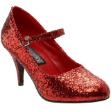 Rood Glitter 7,5 cm GLINDA-50G Pumps Mary Jane