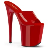 Rood Jelly-Like 20 cm FLAMINGO-801N transparante hakken - pole dance mules