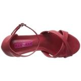 Rood Kunstleer 7,5 cm DIVINE-435 grote maten sandalen dames
