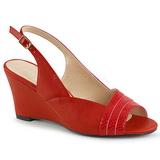 Rood Kunstleer 7,5 cm KIMBERLY-01SP grote maten sandalen dames