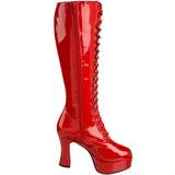 Rood Lak 10,5 cm EXOTICA-2020 Dames Rijglaarzen Hoge Hakken