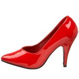 Rood Lak 10 cm DREAM-420 Hoge Hakken Pumps voor Heren