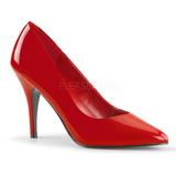 Rood Lak 10 cm VANITY-420 pleaser pumps met puntneus