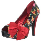 Rood Lak 11,5 cm BETTIE-13 Plateau Pumps Open Teen
