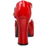 Rood Lak 11 cm MARYJANE-50 Mary Jane Plateau Pumps Hoge Hak