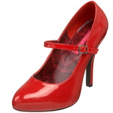 Rood Lak 12 cm rockabilly TEMPT-35 Dames pumps met lage hak
