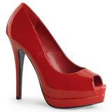Rood Lak 13,5 cm BELLA-12 Pumps Schoenen met Naaldhakken