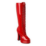 Rood Lak 13 cm ELECTRA-2020 Dameslaarzen met hak voor Heren