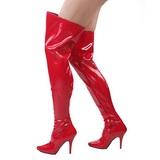 Rood Lak 13 cm SEDUCE-3000 Overknee Laarzen voor Heren