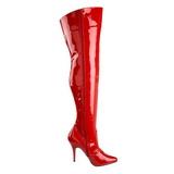 Rood Lak 13 cm SEDUCE-3010 Overknee Laarzen voor Heren