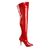 Rood Lak 13 cm SEDUCE-3010 overknee laarzen met hakken