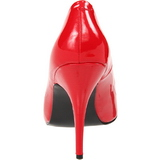 Rood Lak 13 cm SEDUCE-420 Hoge Hakken Pumps voor Heren