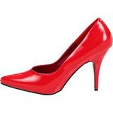 Rood Lak 13 cm SEDUCE-420 pleaser pumps met puntneus
