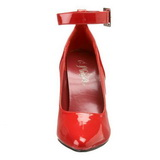 Rood Lak 13 cm SEDUCE-431 Dames pumps met lage hak