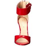 Rood Lak 13 cm SEXY-19 Hoge Avond Sandalen met Hak