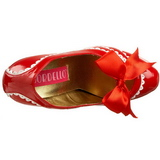 Rood Lak 14,5 cm Burlesque TEEZE-14 damesschoenen met hoge hak