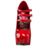 Rood Lak 14,5 cm TEEZE-05 damesschoenen met hoge hak