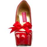 Rood Lak 14,5 cm TEEZE-14 damesschoenen met hoge hak