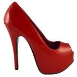 Rood Lak 14,5 cm TEEZE-22 Pumps Schoenen met Naaldhakken