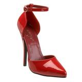 Rood Lak 15 cm DOMINA-402 Dames pumps met lage hak