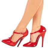 Rood Lak 15 cm DOMINA-415 Dames Pumps Schoenen Plat
