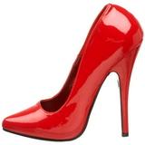 Rood Lak 15 cm DOMINA-420 zeer hoge naaldhak pumps met puntneus