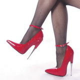 Rood Lak 15 cm SCREAM-12 Dames Pumps met Stiletto Hak